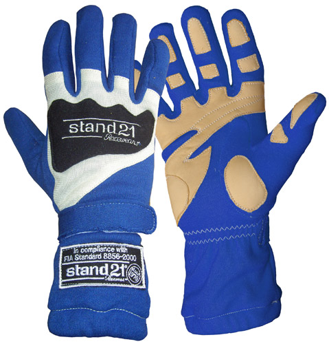 Stock royal blue Daytona gloves