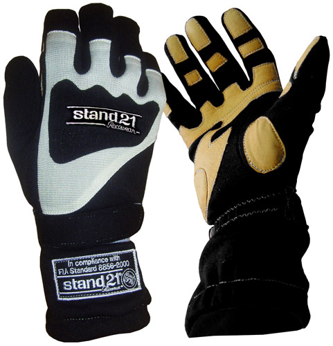 Stock black Daytona gloves